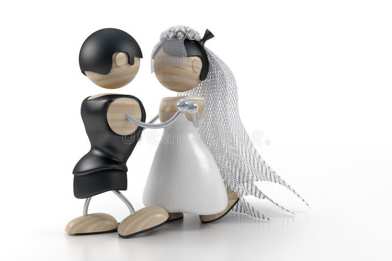 Dança Wedding ilustração royalty free