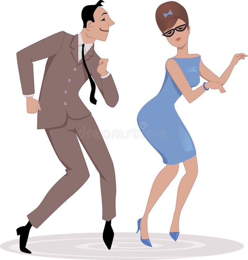Dançando a torção ilustração stock