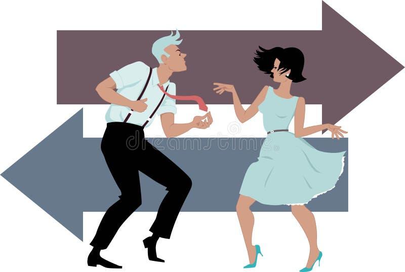 Dançando a torção ilustração royalty free