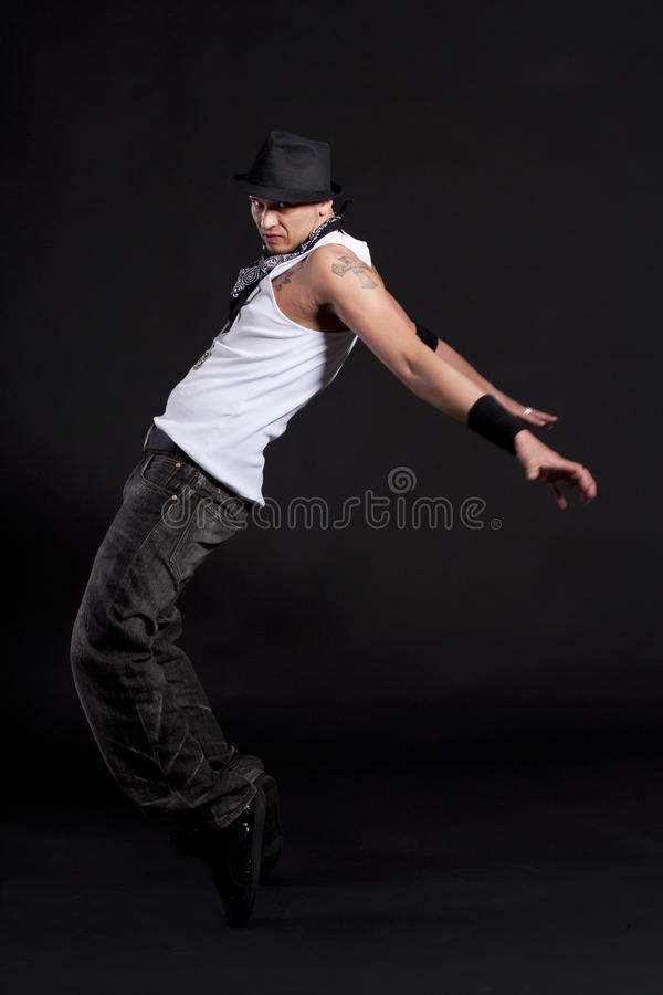 Dançarino à moda novo fotografia de stock