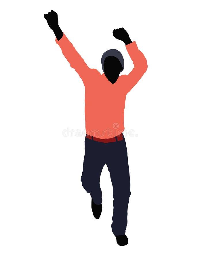 Dançarino ilustração royalty free