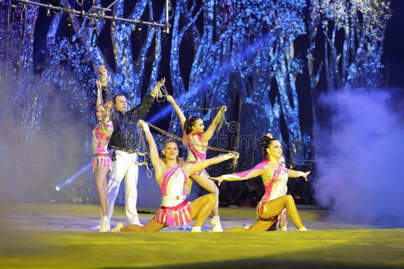 Dançarino acrobático fotos de stock royalty free