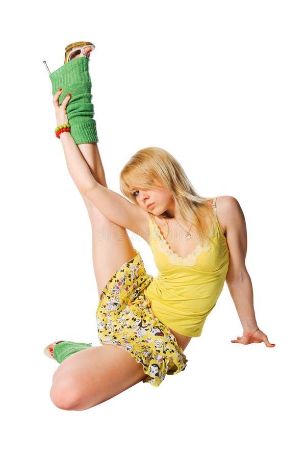 Dançarino bonito imagem de stock royalty free