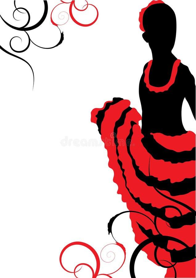 Dançarino bonito do flamingo ilustração do vetor