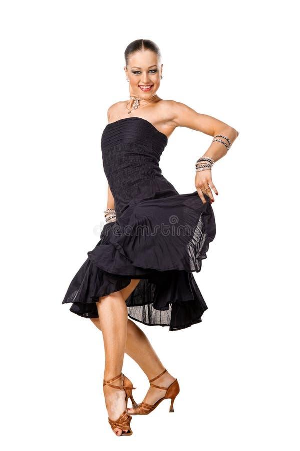 Dançarino bonito do Latino na ação imagem de stock