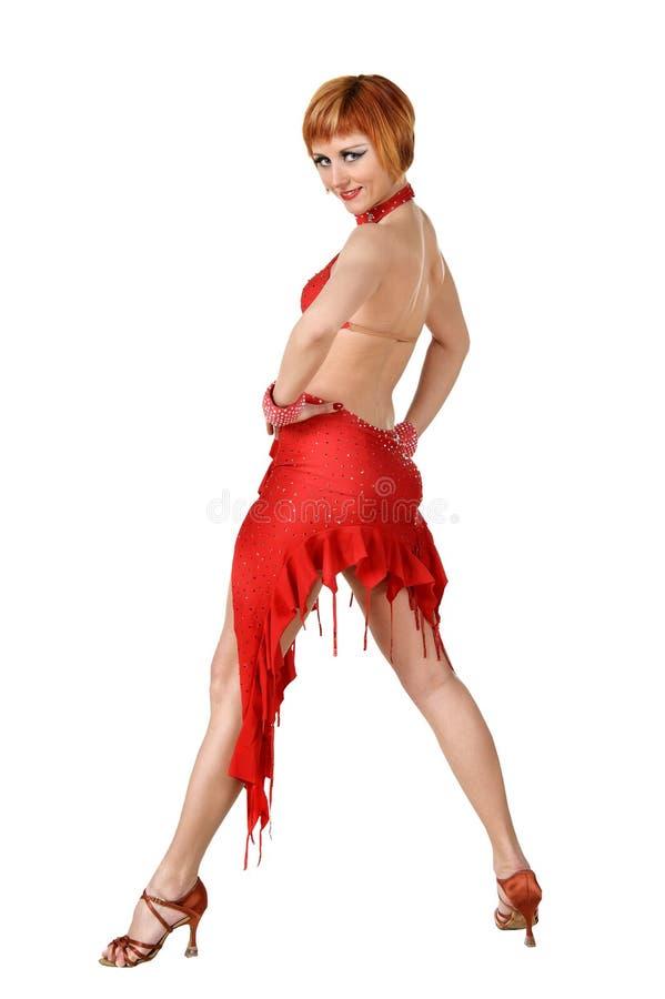 Dançarino bonito do Latino na ação fotos de stock