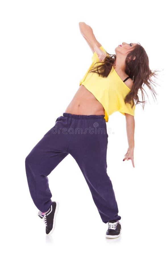 Dançarino bonito novo da mulher imagens de stock
