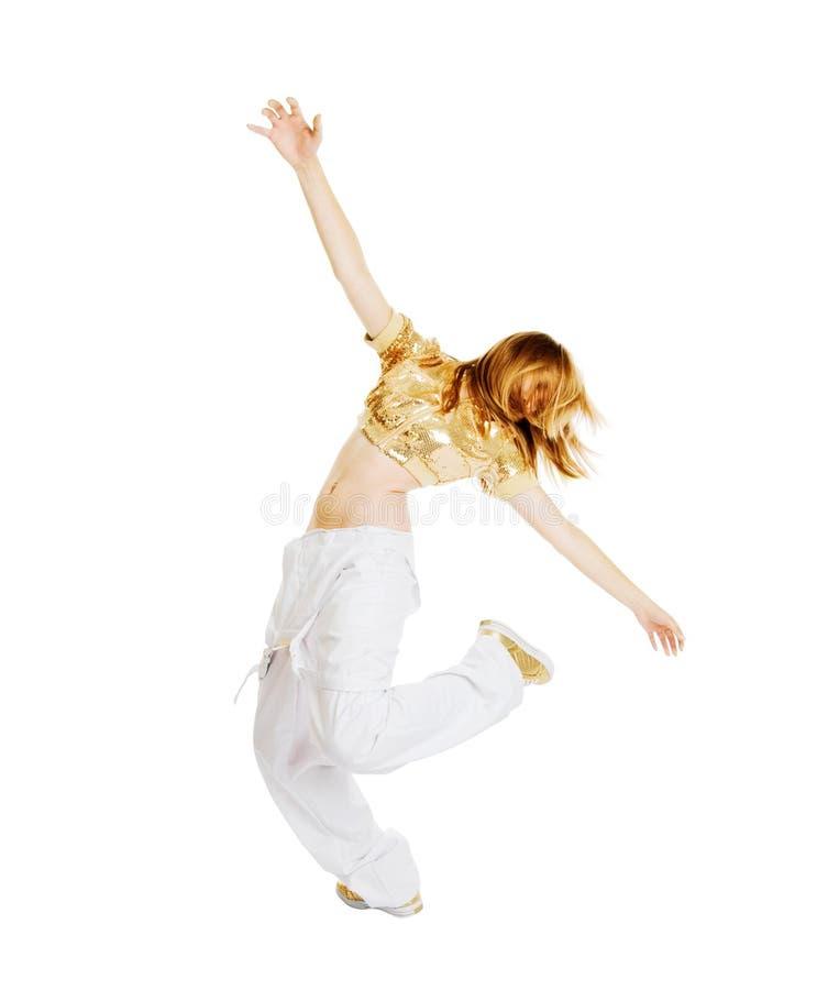 Dançarino bonito quente foto de stock