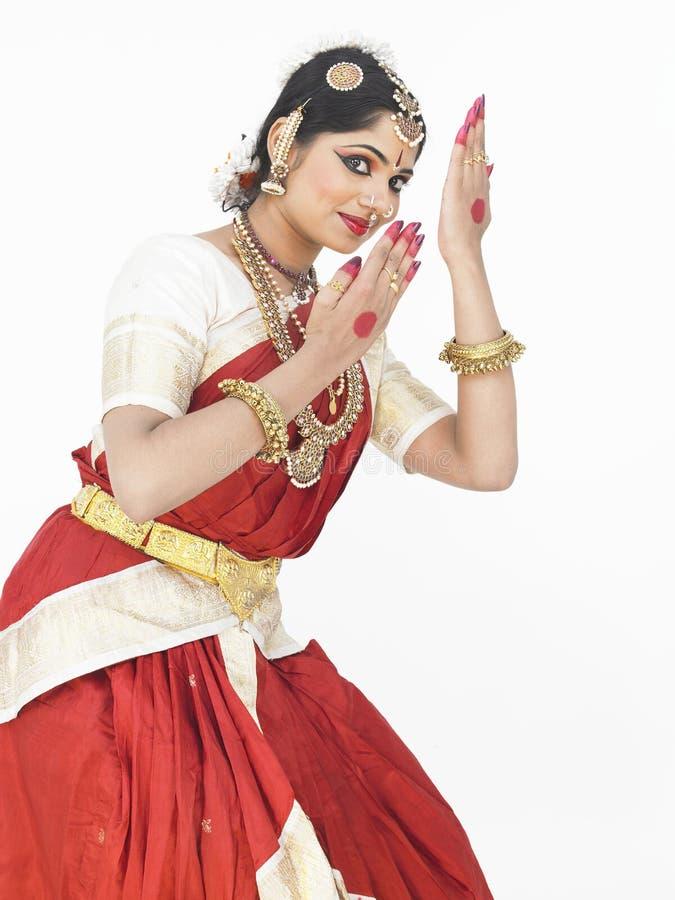Dançarino clássico fêmea de india fotos de stock royalty free