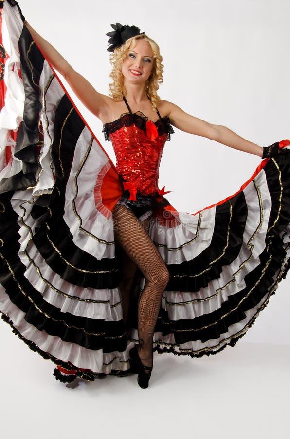 Dançarino da cancã foto de stock