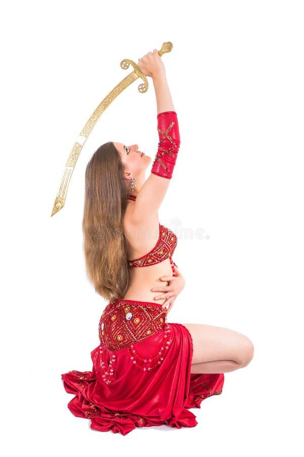 Dançarino da espada foto de stock