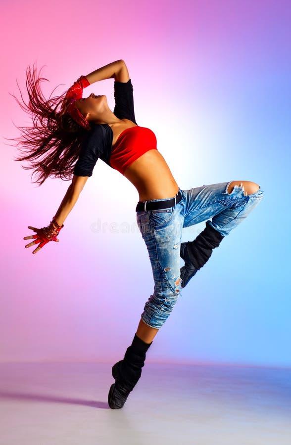 Dançarino da jovem mulher imagens de stock