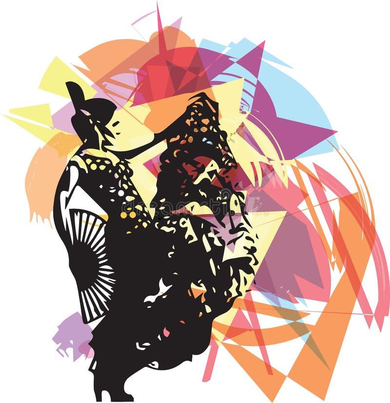Dançarino da mulher do flamenco ilustração do vetor