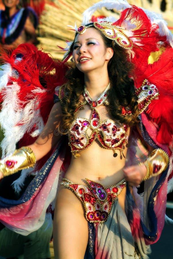 Dançarino da samba fotos de stock