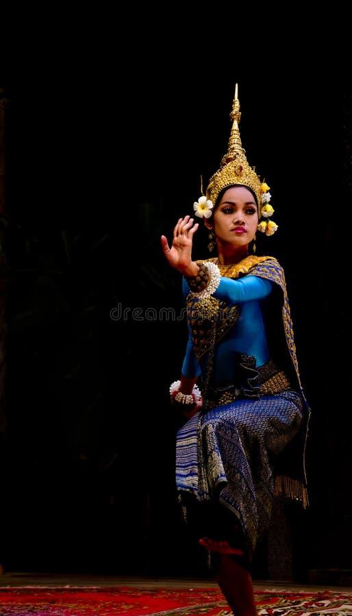 Dançarino de Apsara imagem de stock royalty free