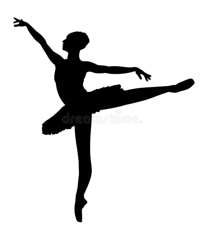 Dançarino de bailado ilustração stock