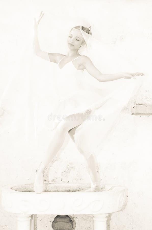 Dançarino de bailado fotografia de stock