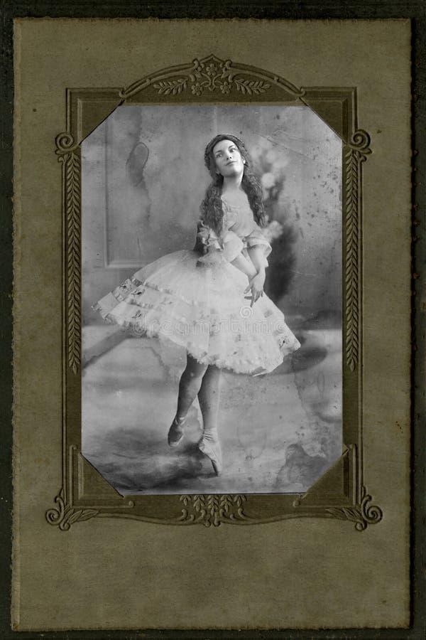 Dançarino de bailado antigo da fotografia do vintage, mulher, bailado imagens de stock royalty free