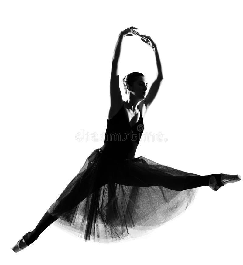 Dançarino de bailado da mulher fotografia de stock
