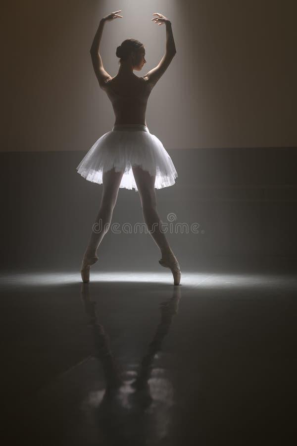 Dançarino de bailado de atrás imagens de stock royalty free