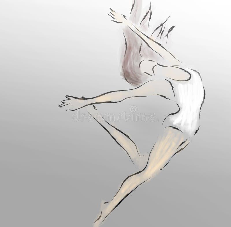 Dançarino de bailado moderno ilustração stock