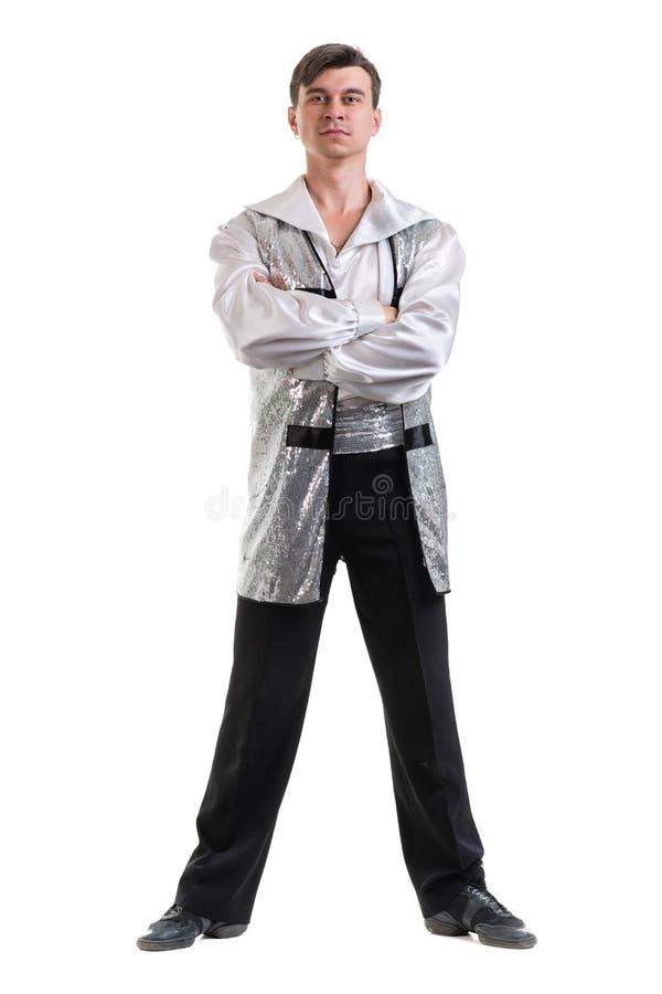 Dançarino de bailado moderno novo e à moda, isolado foto de stock royalty free