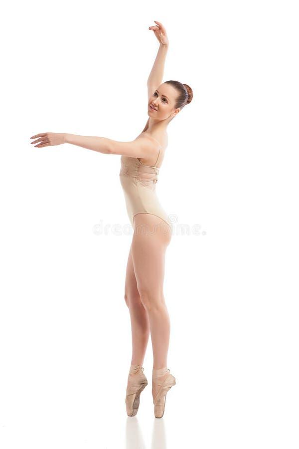 Dançarino de bailado moderno novo isolado no branco fotos de stock royalty free