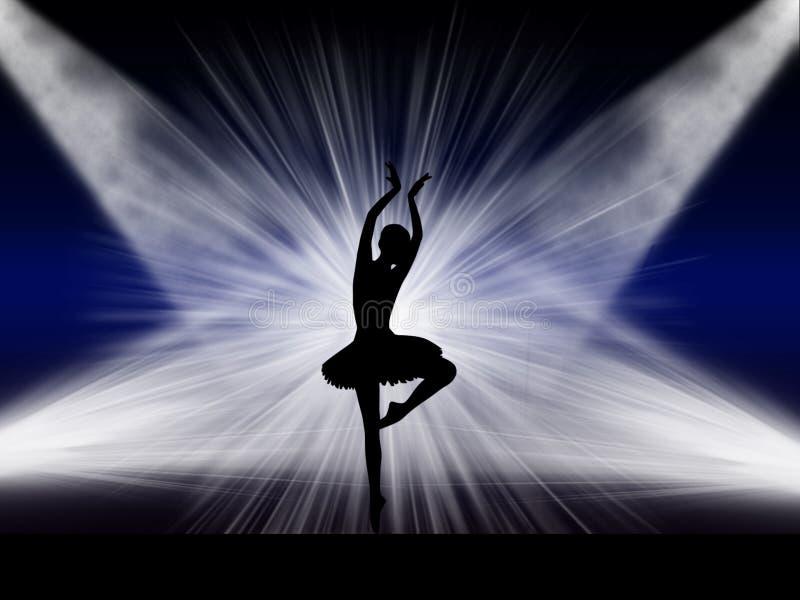 Dançarino de bailado na fase foto de stock royalty free