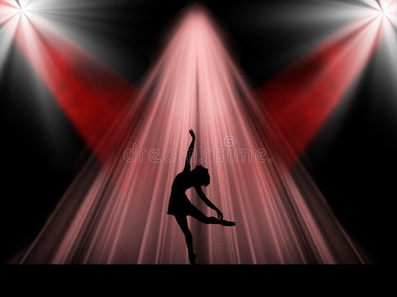 Dançarino de bailado na fase imagens de stock