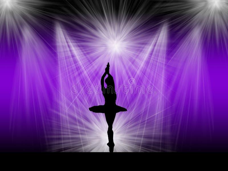 Dançarino de bailado na fase imagem de stock