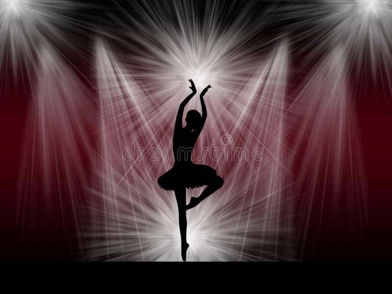 Dançarino de bailado na fase fotografia de stock royalty free