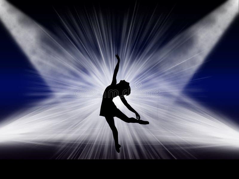Dançarino de bailado na fase foto de stock