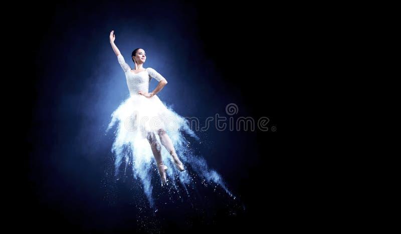 Dançarino de bailado no salto fotografia de stock