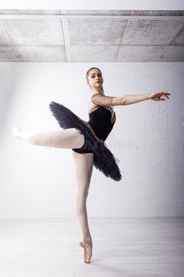 Dançarino de bailado no vestido bonito fotografia de stock royalty free
