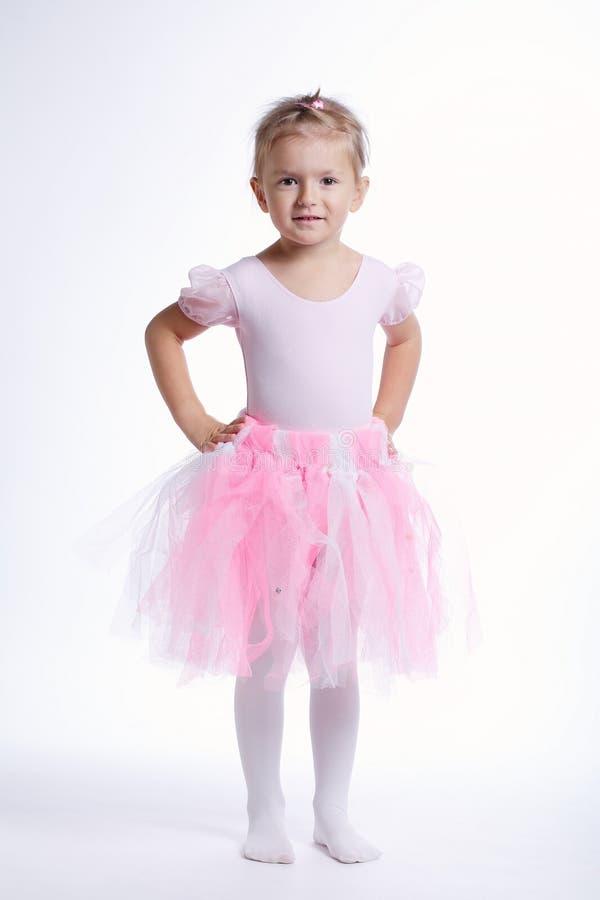Dançarino de Balerina no fundo brilhante imagens de stock royalty free