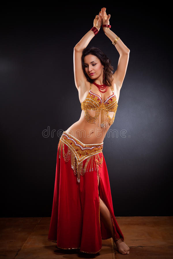 Dançarino de barriga fotos de stock