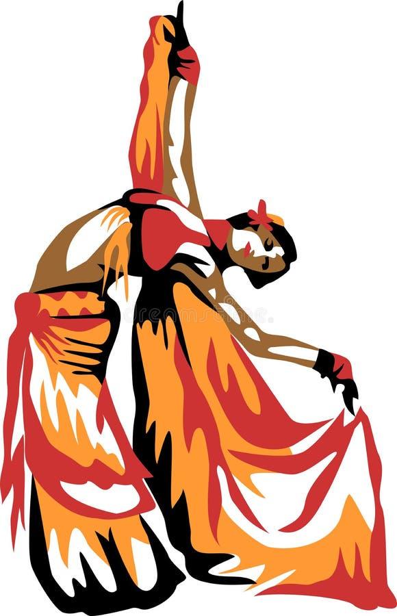 Dançarino de barriga ilustração do vetor