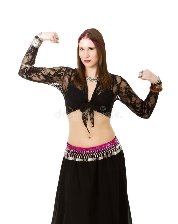 Dançarino de barriga poderoso fotografia de stock