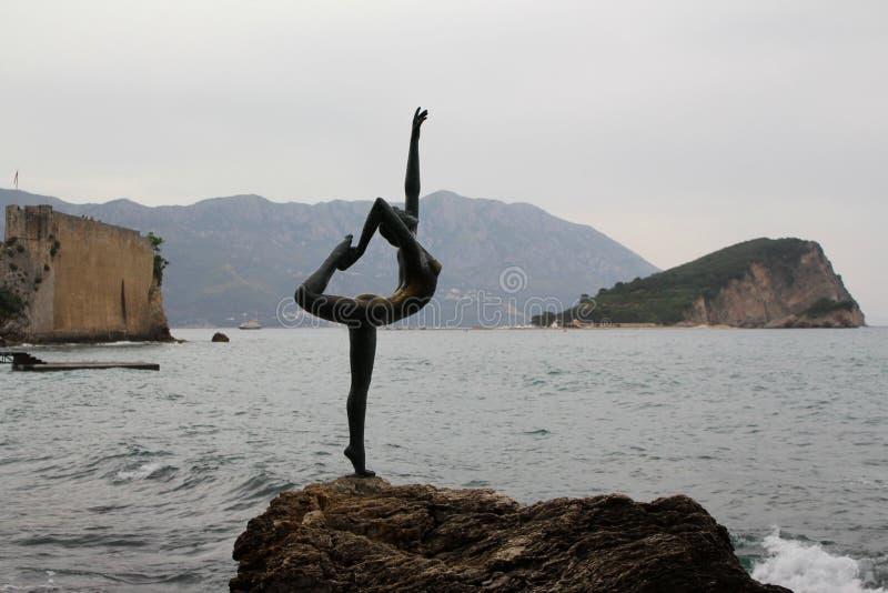 Dançarino de Budva em Montenegro fotografia de stock royalty free