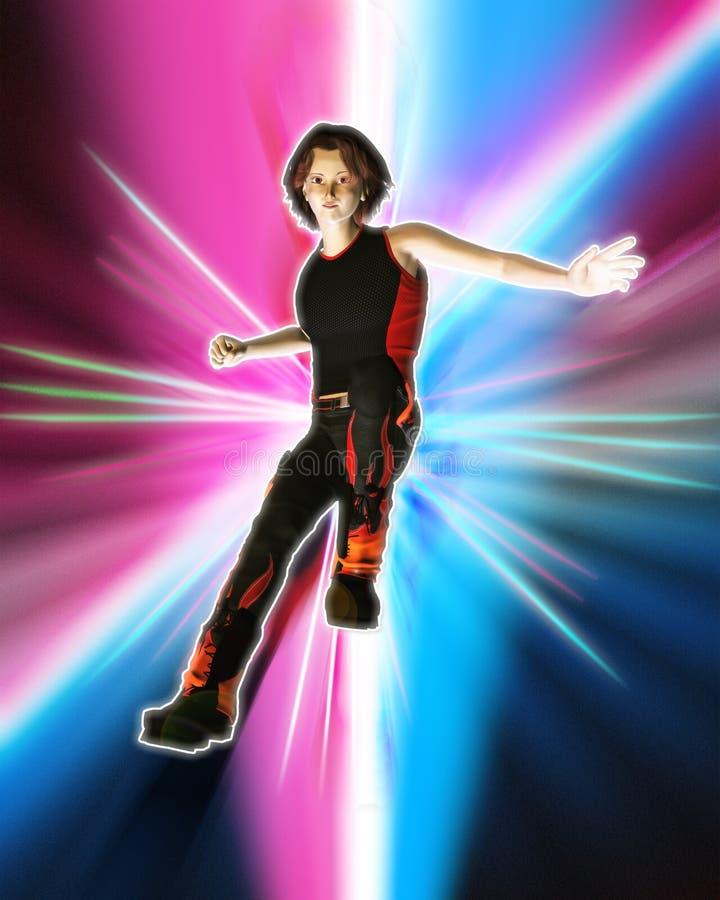 Dançarino de Hip Hop ilustração do vetor