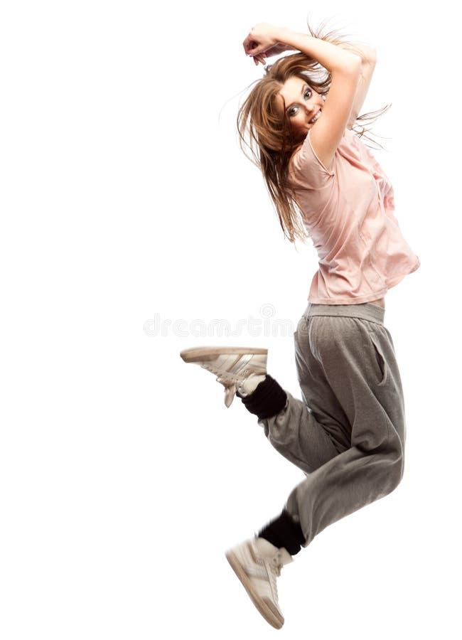 Dançarino de hip-hop da menina fotografia de stock royalty free