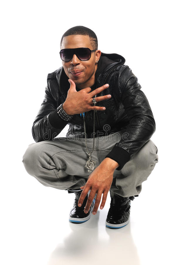 Dançarino de Hip Hop do americano africano fotos de stock royalty free