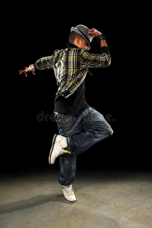 Dançarino de Hip Hop do americano africano imagem de stock royalty free