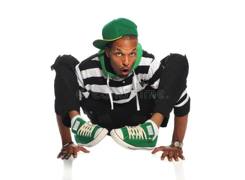 Dançarino de Hip Hop que balança nas mãos fotos de stock royalty free