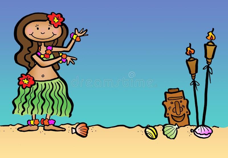 Dançarino de Hula ilustração do vetor