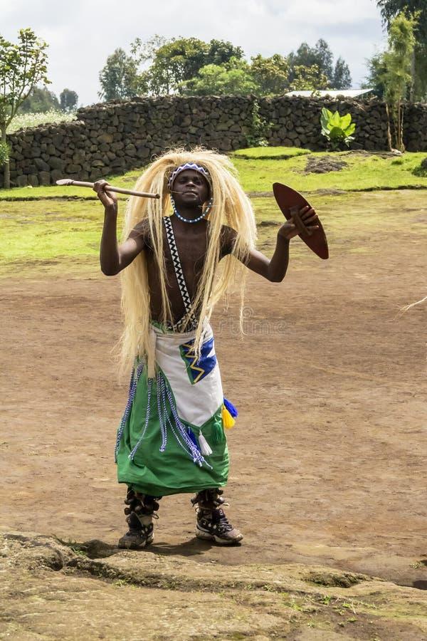 Dançarino de Intore, rwanda imagem de stock royalty free