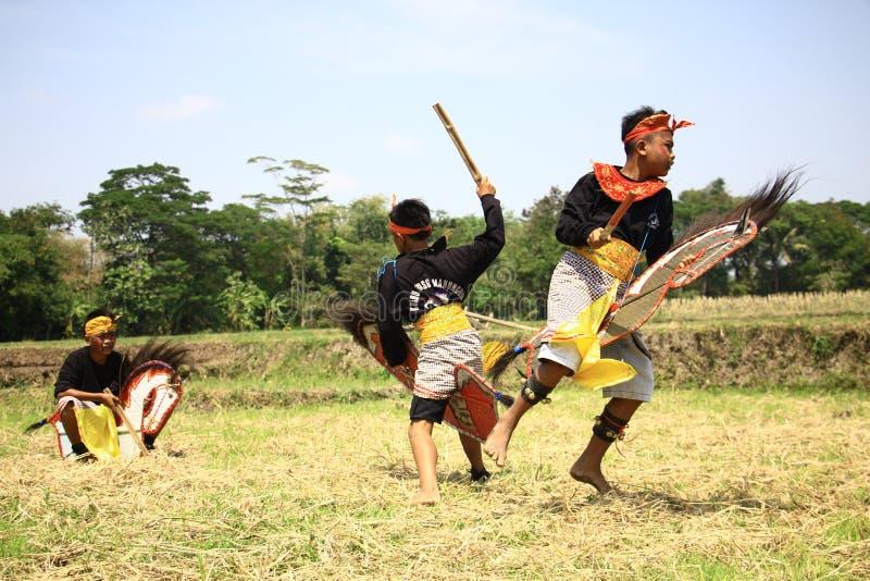 Dançarino de Jathilan imagens de stock royalty free