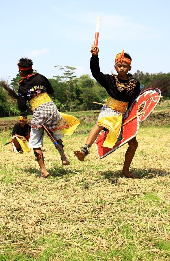 Dançarino de Jathilan foto de stock