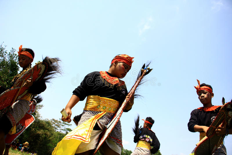Dançarino de Jathilan foto de stock royalty free