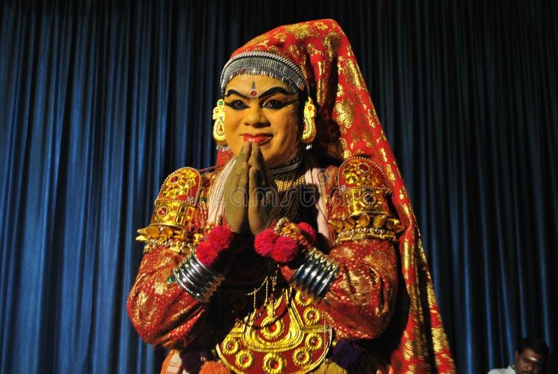 Dançarino de Kathakali imagens de stock